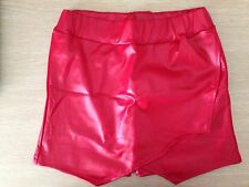 Women New Leather Look Punk Sexy Party Clubwear Front Skirt shorts Short Pants