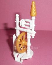 Playmobil   Magic Castle/Victorian - White & Pale Gold Spinning Wheel - NEW