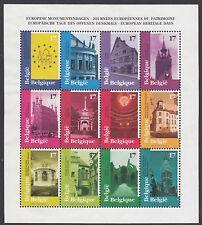BELGIUM : 1998 Eurpoean Heritage Days  sheetlet  SG3439-50 MNH