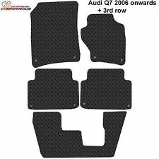 Audi Q7 2006 to 2015 (7 seat) onwards Fully Tailored Rubber Car Mats + 3rd row