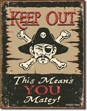 Keep Out - Kein Zutritt - Piraten Design Metall Deko Schild Plakat
