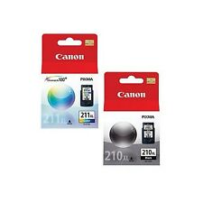 2-PACK Canon GENUINE PG-210XL Black & CL-211XL Tri-Color Ink in Original Box