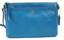 COACH Smythe Leather East West Swingpack CB 52638 Teal New with Defects