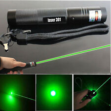 Military Powerful 1mW 532nm Green Laser Pointer Pen Beam Light Burning Lazer UK