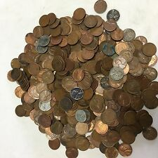 INDIAN HEAD CENT LOT Lincoln Wheat & Indian Cents Lot 1 Pound 150+ coins