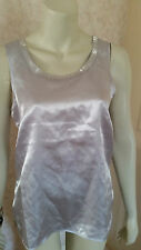 CREATONS GOLD OR SILVER SEQUIN EVENING TOP SZE 10,12, CLEARANCE