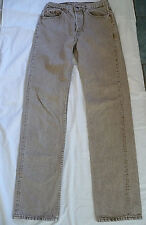 Levis 501 0633 Jeans, Brown Tan Button Fly, Straight Leg, 31X36, Actual 30X34