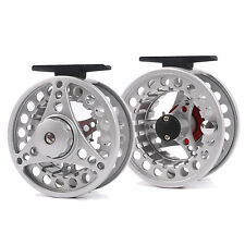 7/8 Weight/Line Large Arbor Fly Fishing Reel Fly Reel Silver&Red Adjustable Drag