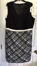 NWOT Ellen Tracy Black & White Dress - 16W