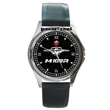 NEW SUZUKI BOULEVARD M 109R Custom Round Metal Leather Men's Watch Watches