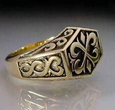 Bronze Celtic Signet Ring Custom Size Norse Viking Medieval handmade R-78b