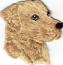 DOGS -  YELLOW LABRADOR RETREIVER - PET -LAB/ Iron On Embroidered Applique Patch