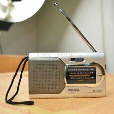 Mini Portable AM/FM Telescopic Antenna Radio World Receiver Slim Pocket Newest