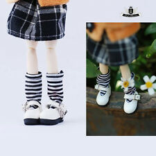 1/12 BJD Shoes Dollfie DREAM DIM DOD AOD SOOM LATI Shoes Tiny White Shoes 2.8cm