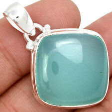 Aqua Chalcedony 925 Sterling Silver Pendant Jewelry AQCP459