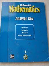 McGraw Hill Mathematics Grade 1 Practice, Reteach, Extend Workbook Answer Key