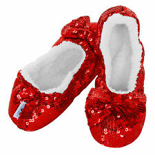 SNOOZIES Brand RED BLING SLIPPERS Womens LARGE (Size 9-10) Free USA Ship