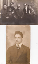 Pair antique real photos Russian Jews