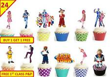 48 LAZY TOWN 2015 Birthday Cup Cake Toppers Rice Wafer Edible Party *STAND UP