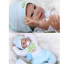 New Cute Full Body Soft Solid Silicone Lifelike Baby Doll BOY Kids Gift Handmade