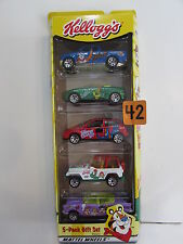 MATCHBOX 2000 KELLOGG'S  FORD F - 150 - FORD FOCUS - JEEP WRANGLER - 5 CAR PACK