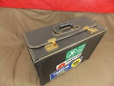Vintage Craft Luggage Business Carry on Case Check out Stickers ie.. NATO !!!!