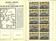 Isle Of Man Steam Packet Poster Stamps in folder