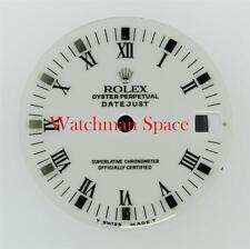 Genuine Rolex Midsize Datejust 68274 78240 White Roman with Stick Dial S/S #F14