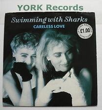 "SWIMMING WITH SHARKS - Careless Love - Excellent Condition 7"" Single WEA YZ 173"