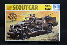 XZ107 ITALERI 1/35 maquette voiture 231 Scout Car White M3A1 D Day 50 th USA