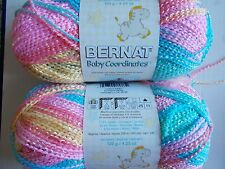 Bernat Baby Coordinates variegated yarn, Candy baby, lot of 2 (358 yds each)
