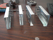 2 Sets Heavy Duty Full Extension Drawer Slides End Mounting Brackets