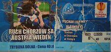 TICKET UEFA EL 2010/11 Ruch Chorzow - Austria Wien