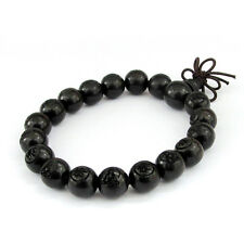 Black Sandalwood Buddha Word Tibet Buddhist Prayer Beads Mala Bracelet