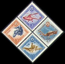 Russia 1959 Sports/Helicopter/Motorbike/Diving/Parachute/Transport 4v set n33430