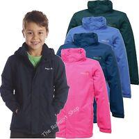 REGATTA WESTBURN WATERPROOF KIDS RAIN COAT JACKET BOYS GIRLS AGE 3-12yrs