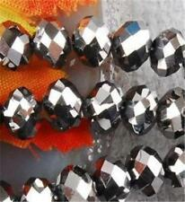 100pcs 4x6mm  Crystal Faceted Loose Beads