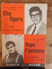 """SPARTITO DI CAPRI """"CHE FIGURA"""" VALENTINO """"DOPO L'AUTUNNO"""""""