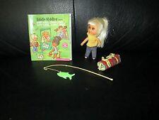 Liddle Kiddle Kampy Camper Doll Little Sleeping Bag Vintage Fishing Pole Booklet