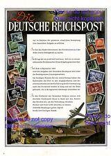 Reichspost XL Reklame 1942 Post Briefmarke 3. Reich Solddaten WK2 Krieg Werbung