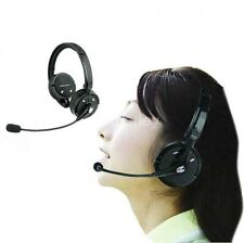 Bluetooth Wireless Headset Dual Ear W Stereo Mic Fr music Trucker PS3