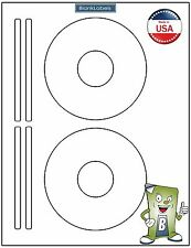 50 CD DVD Laser and Ink Jet Labels - Template 5931, 8931, 8692 - 25 Sheets!
