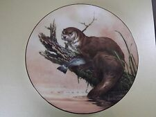 Wedgwood The Water's Edge Plate ~ Otter at Dusk (69,29)