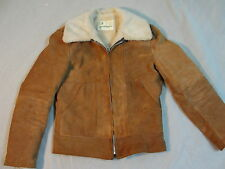 Vtg Gino Leathers Shearling  Jacket Men's size 38 Made in USA sherpa pile lined