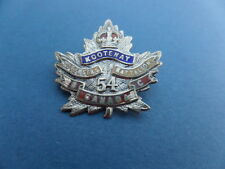 A WW1 C.E.F. Sweetheart to the 54th 'Kootenay' Oversea Battalion.Silver/Enamel