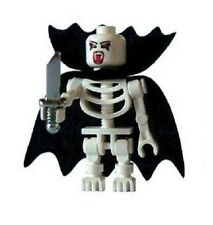 Custom Minifigure Vampire Skeleton with Cape & Dagger Printed on LEGO Parts
