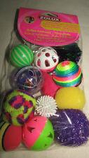 LOT DE 12 JOUETS CHAT balles multicolores