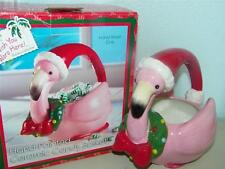 Flamingo Flamingos Lifestyle Studios Candy Dish Basket 9597 Hand painted