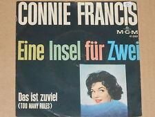 """CONNIE FRANCIS -Eine Insel für Zwei- 7"""" 45"""