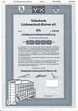 Volksbank Lüdenscheid - Halver IHS 1991 im Märkischen Kreis Sauerland Wappen y